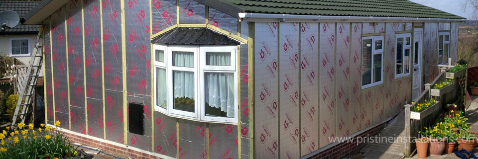 Park Home Exterior Insulation Underfloor Roof In The UK