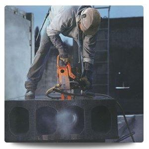 newcastle cut n drill professional using chain saw