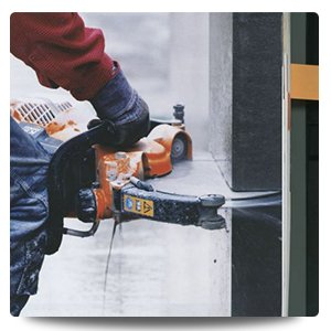 newcastle cut n drill professional cutting the concrete pillar