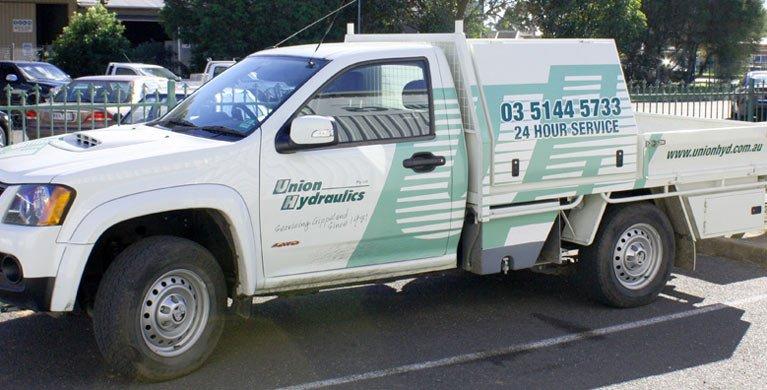 union hydraulics service van