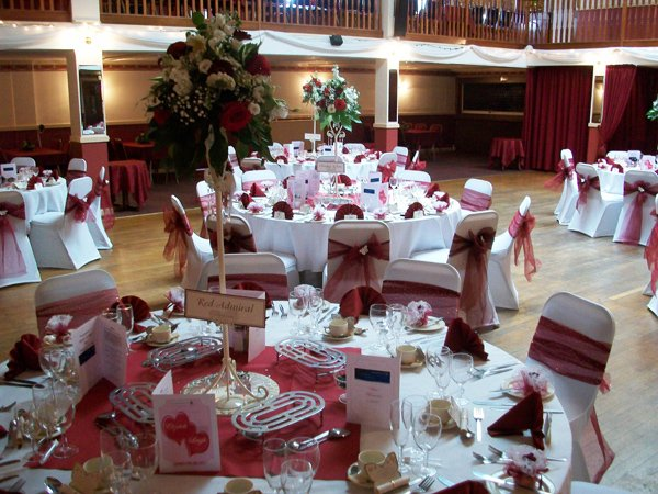 Reception dinner hall
