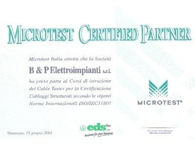Certificazione cablaggi
