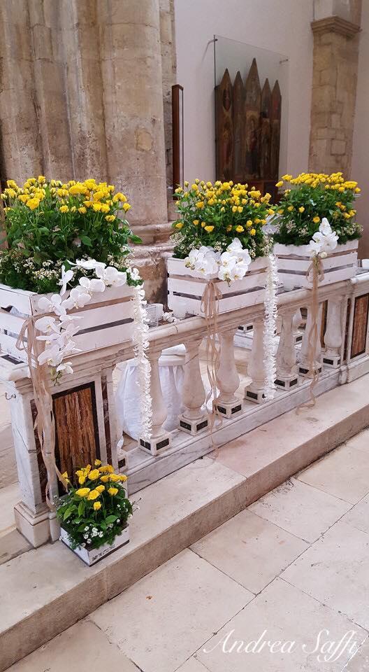 vista laterale fiori gialli