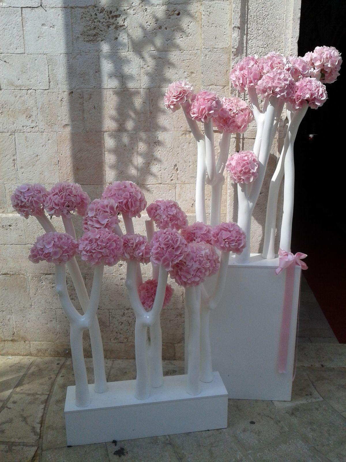 alberi di fiori