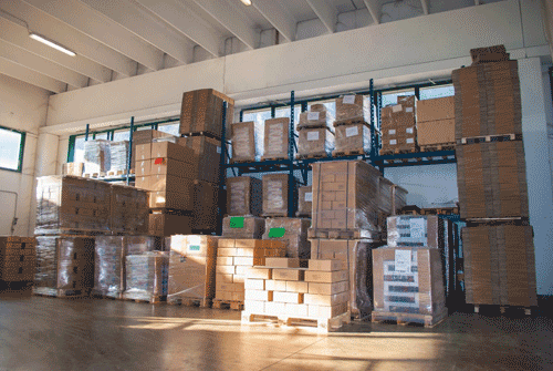 Bancali con lavorazioni cartotecniche in pronta consegna
