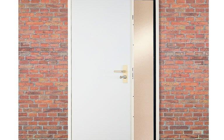 porta di servizio bianca