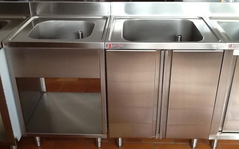 open sinks or sinks with doors