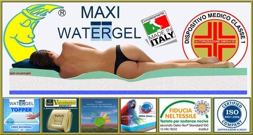 un materasso Made in Italy con top di Water Gel