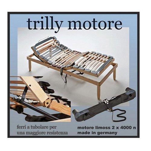 Trilly Motore, un letto singolo con le doghe regolabili