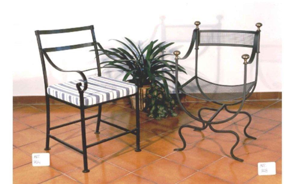 Sedie in ferro battuto realizzate su disegno