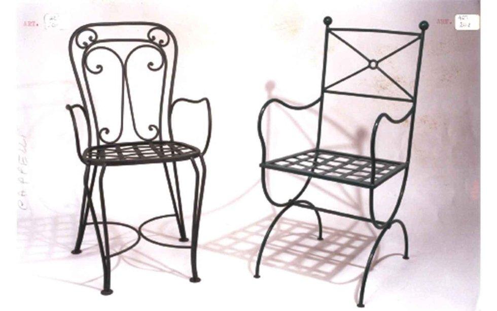 Vendita al dettaglio di sedie in ferro battuto