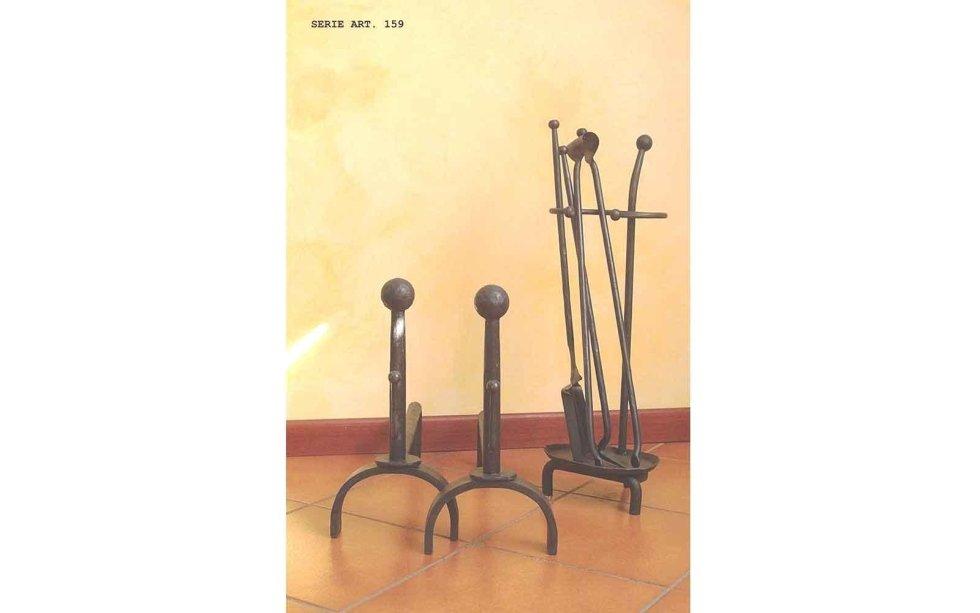 Accessori per il camino in ferro battuto