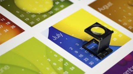 A colourful calendar