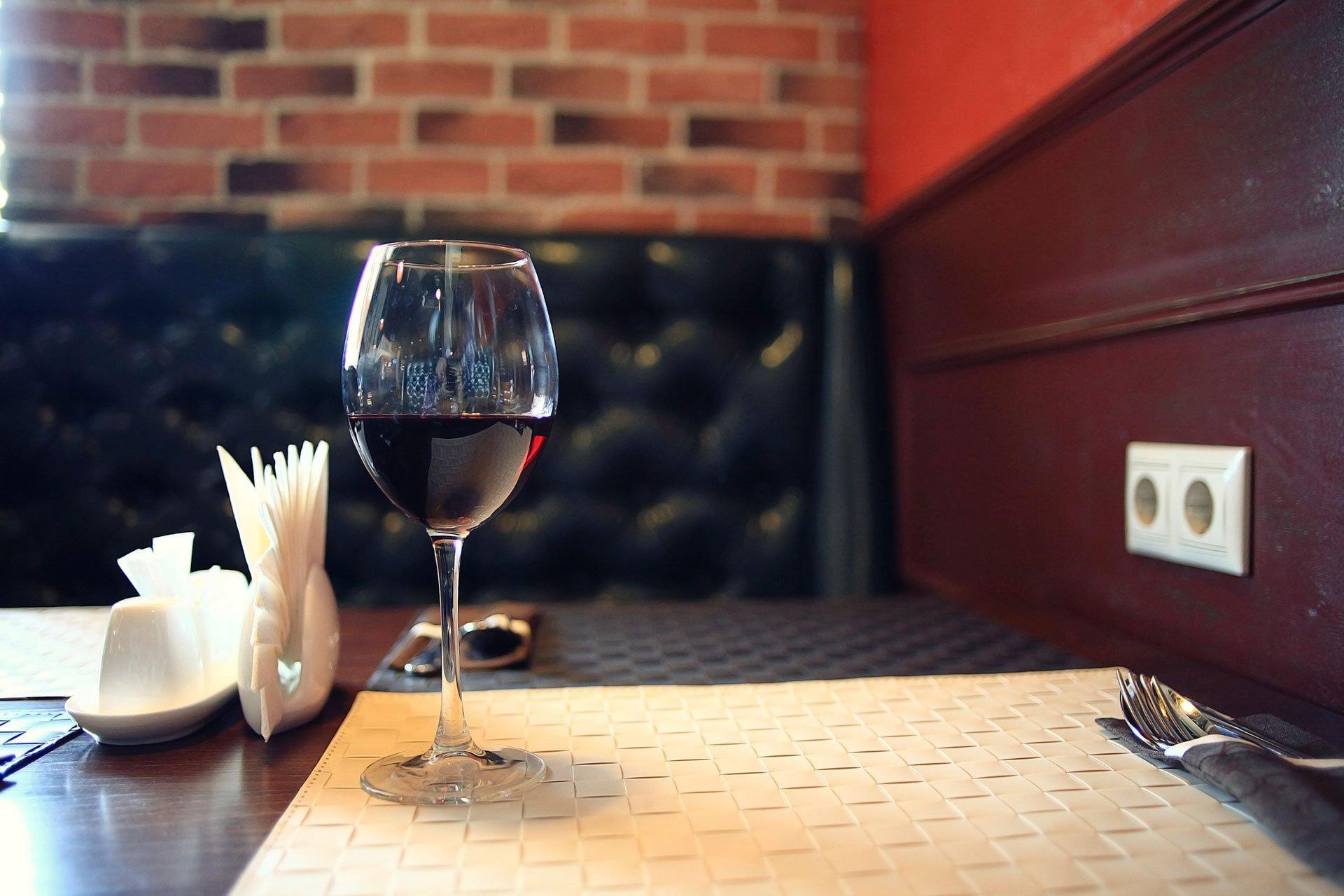 fancy wine in wine glass