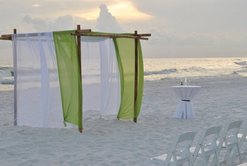 beach wedding set