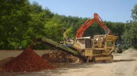 impianto per recupero rifiuti da demolizione