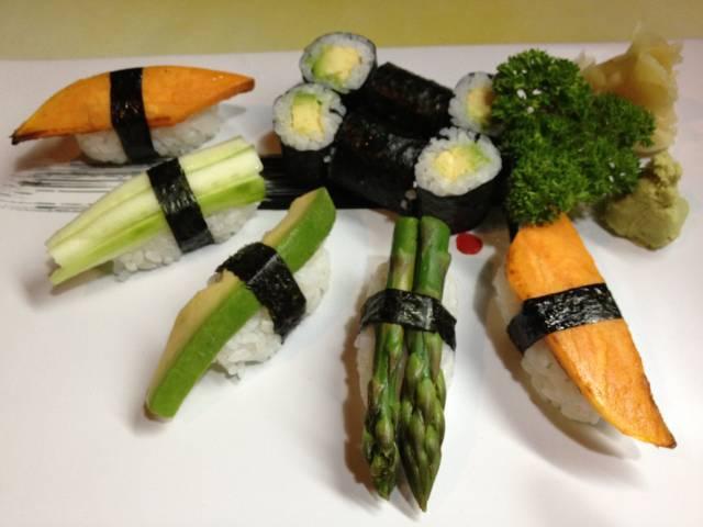 sushi con verdure