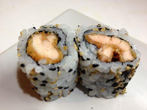 rotoli di riso con pesce