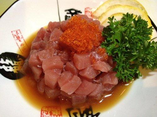 bocconcini di pesce crudo