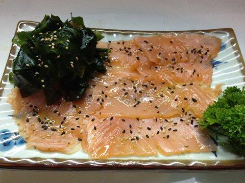 teglia di salmone e pepe nero