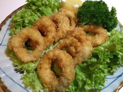 anelli fritti ed insalata