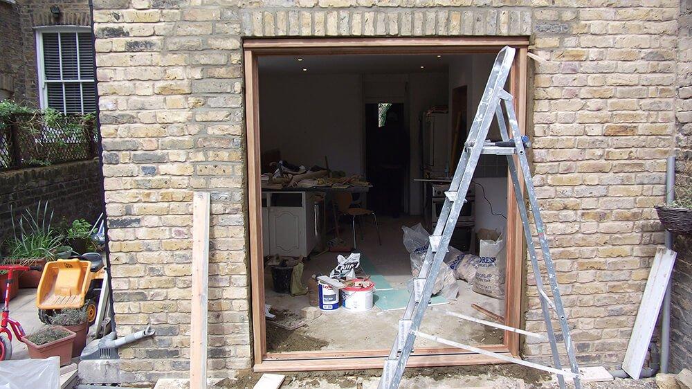 Installation of bi-folding doors