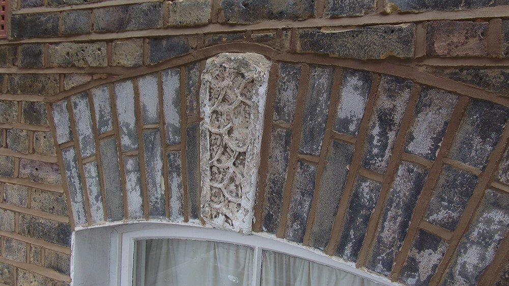 Damaged decorative stone