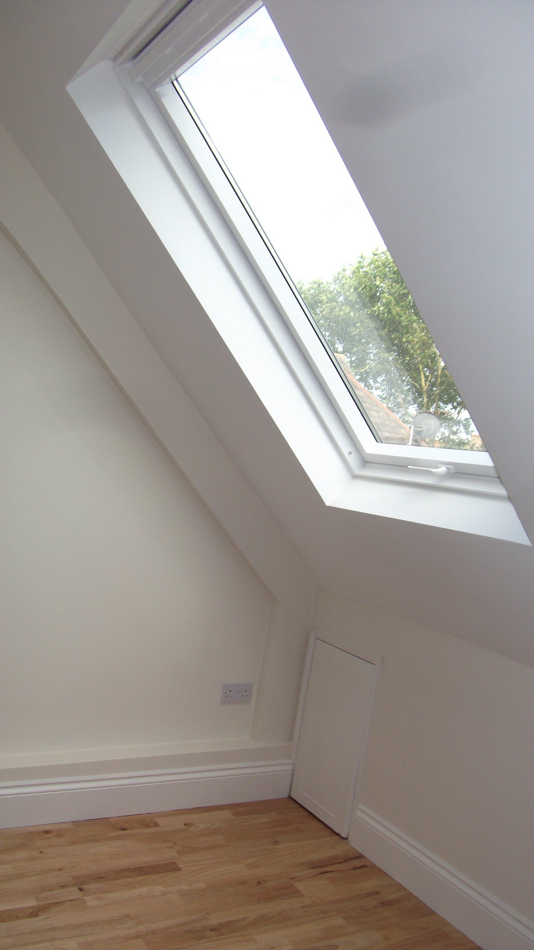 completed loft window