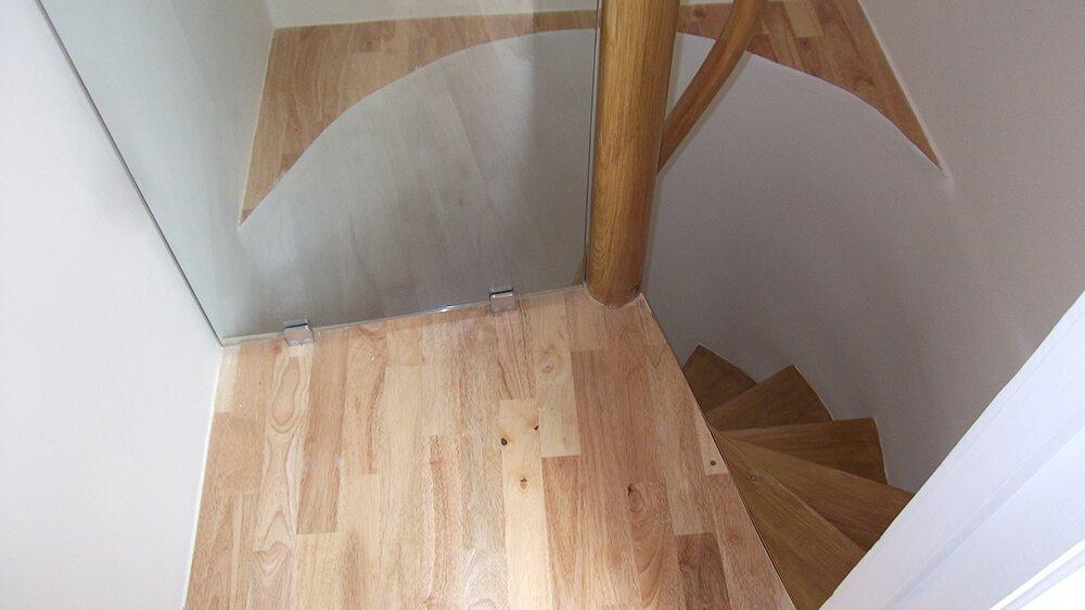 stairwell after refurbishing - detail