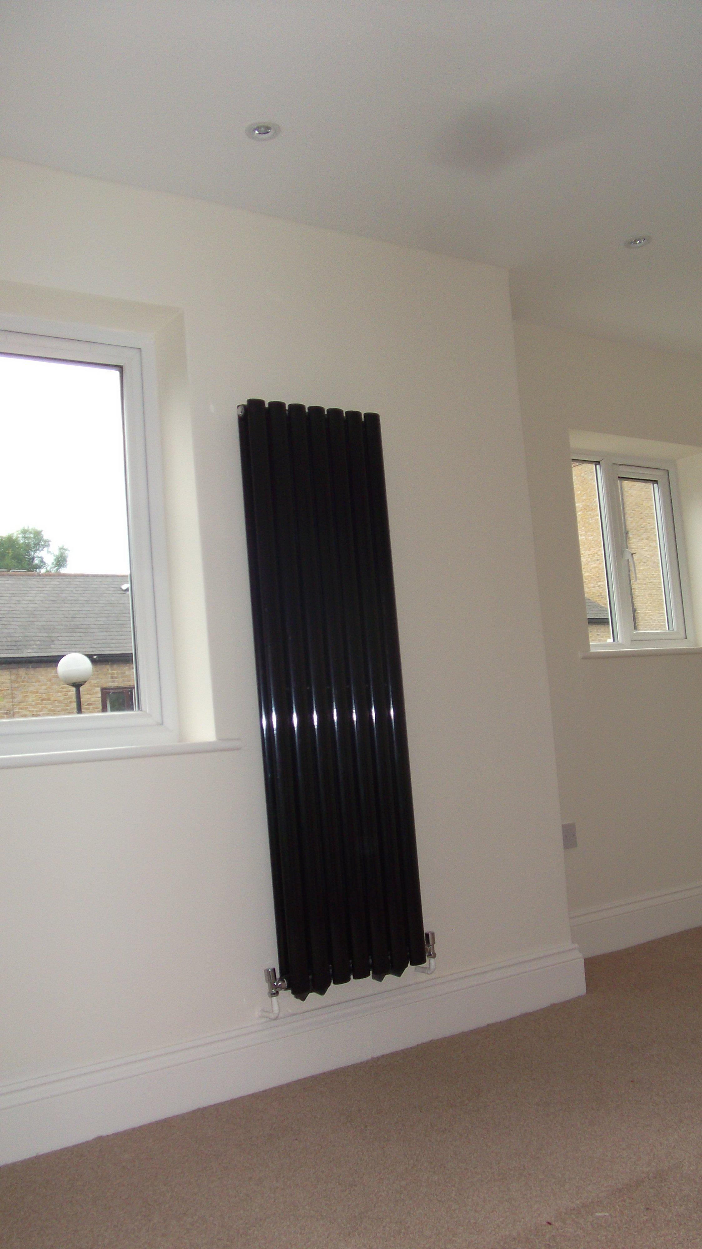 Designer radiator in bedroom
