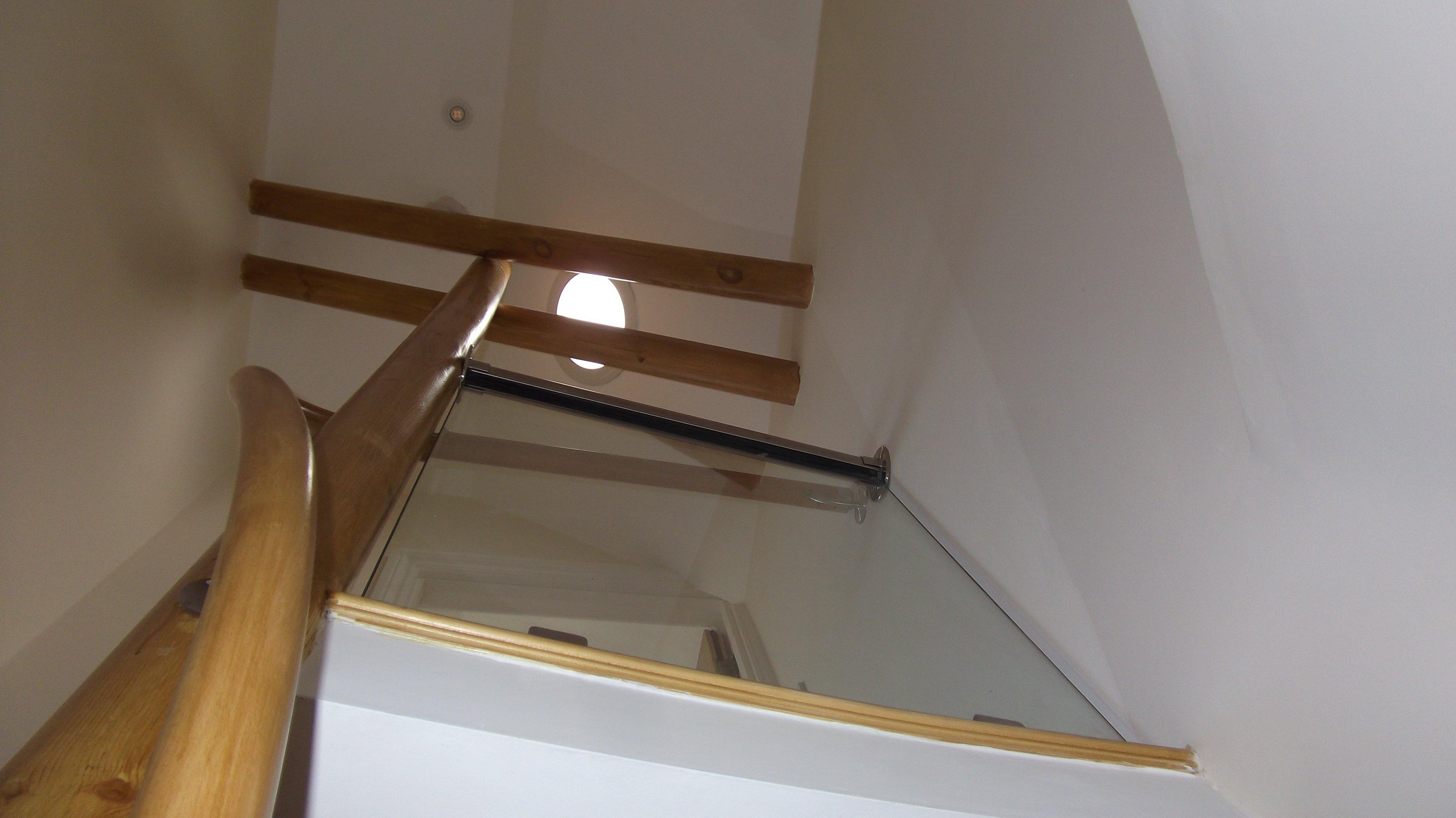 Loft stairwell with bendy rail