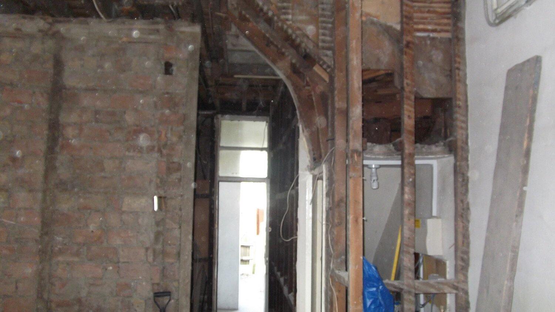 hallway under reconstruction