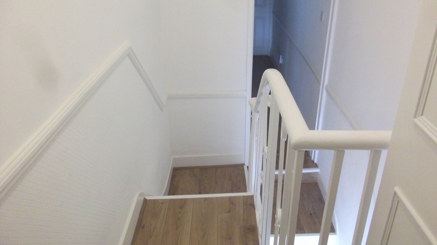 stairwell after refurbishing