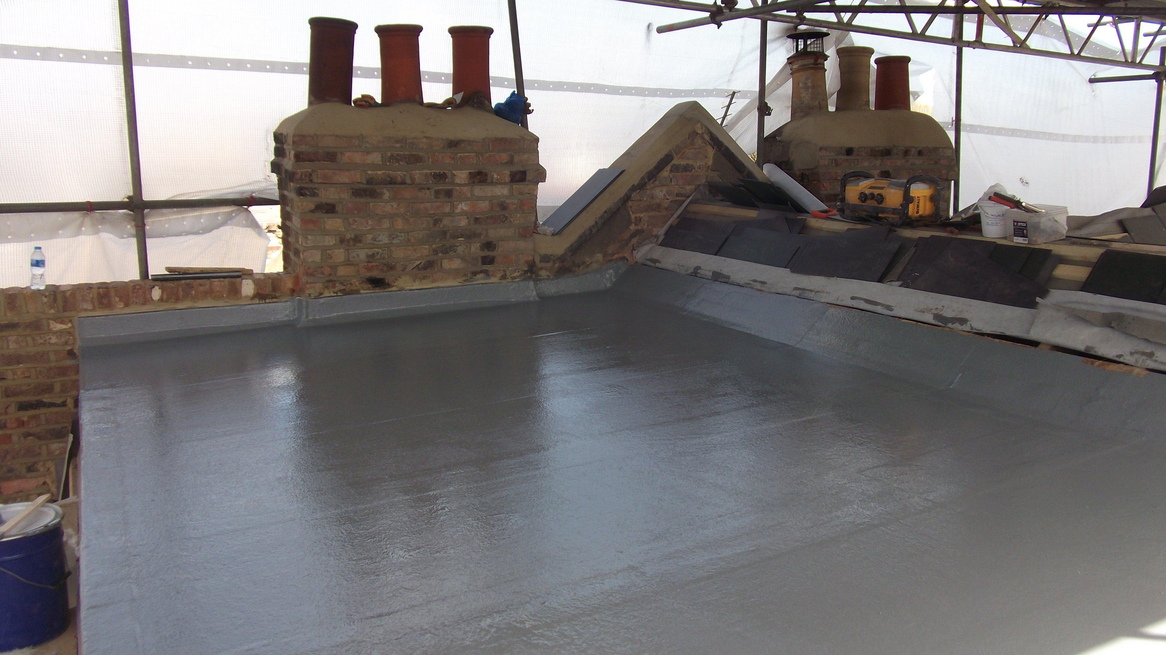 Newly fibre glass roof