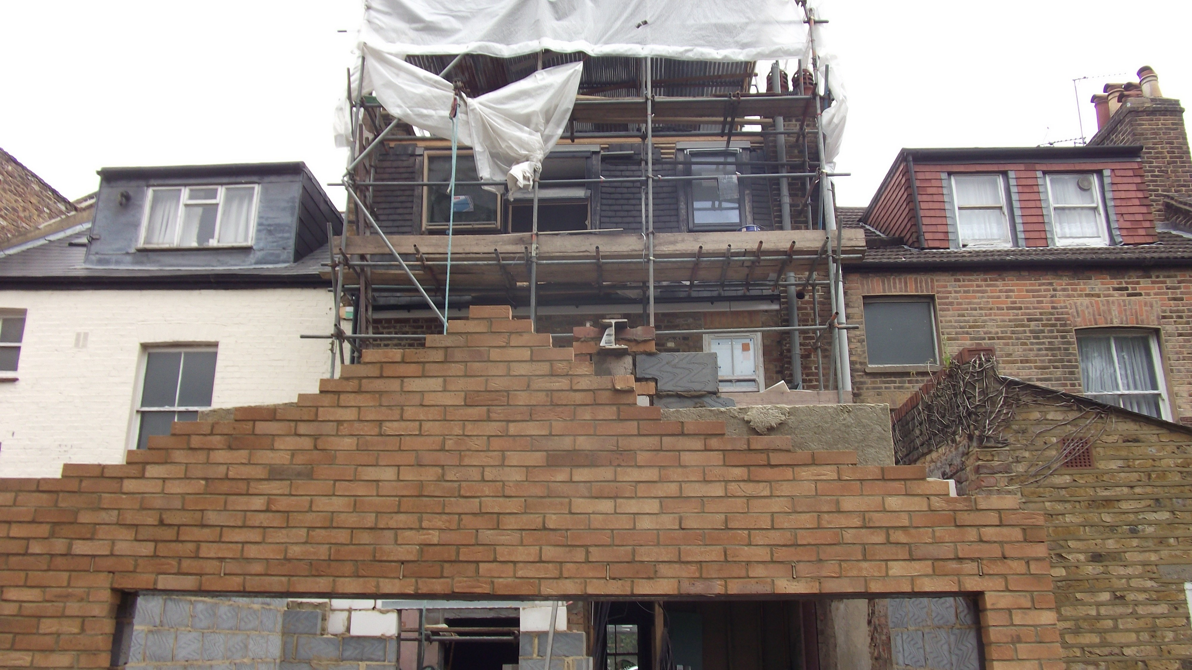 building of the extension & loft