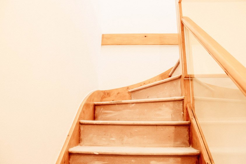 photo of a refurbished staircase
