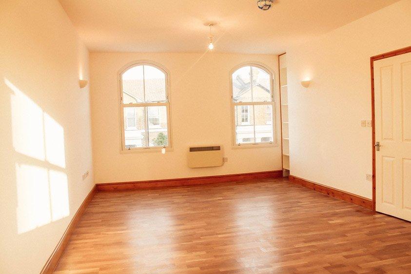 refurbished living area