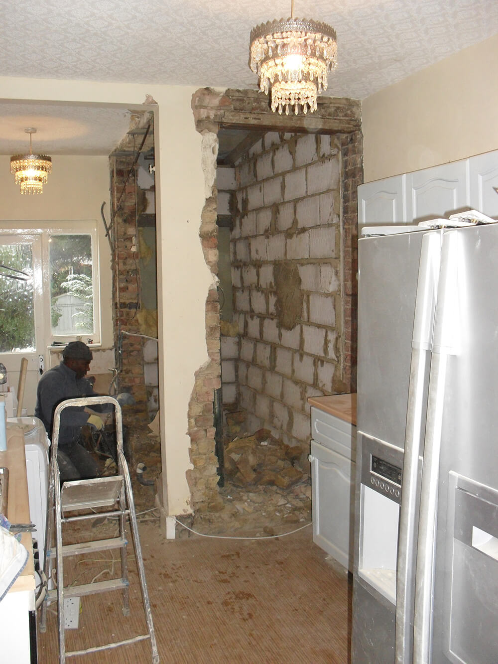 interior of a home during refurbishing