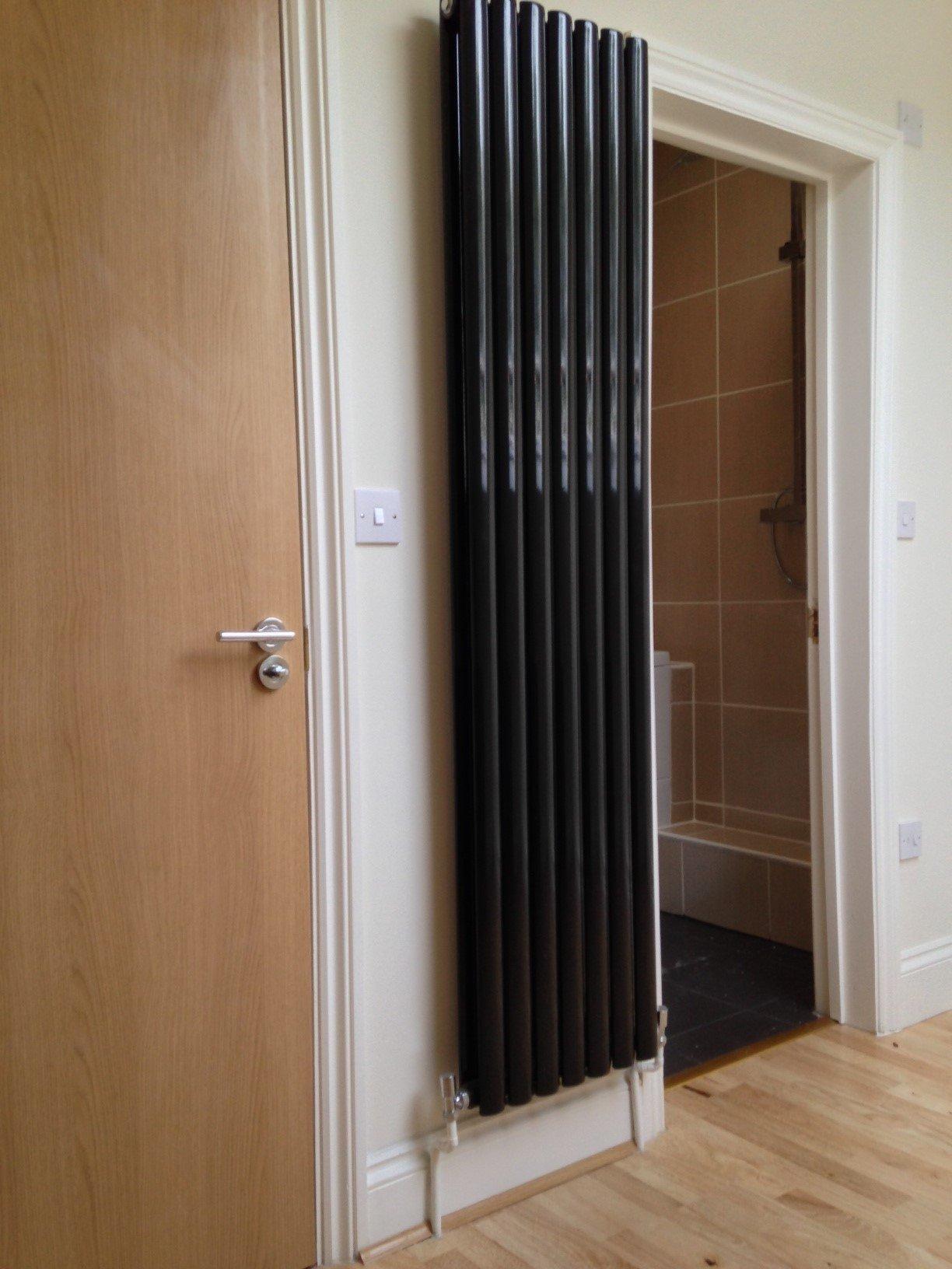 Designer radiator in loft