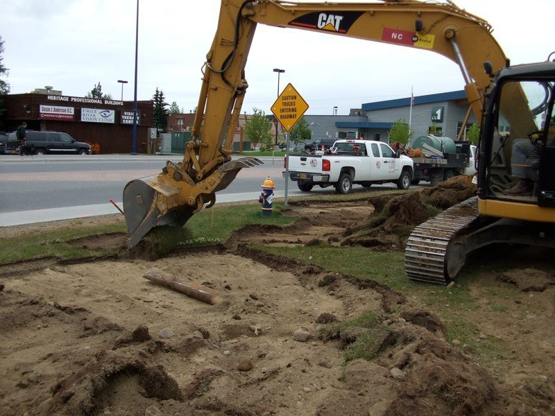 Excavation being done by professionals in Anchorage
