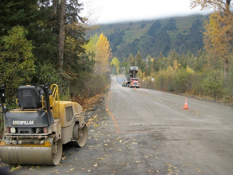 View of the road before paving started in Anchorage