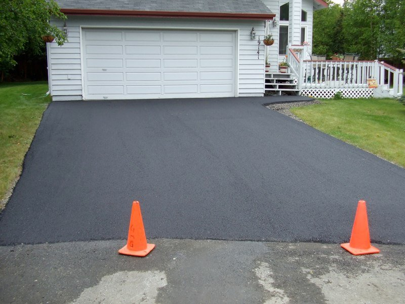 View of the paved driveway done by professionals in Anchorage