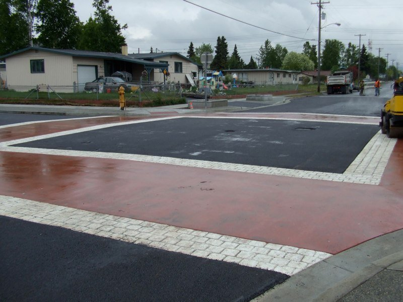 View of the paved parking space done by professionals in Anchorage