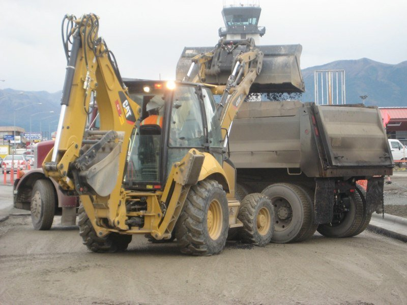 Machine used for paving in Anchorage