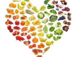 cuore fatto di verdure