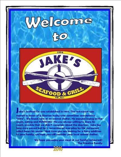 Jake's Menu