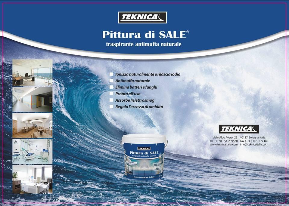 brochure riguardante la pittura di sale e sulla sinistra delle foto dimostrative