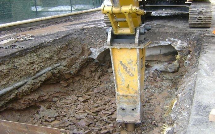 Dettaglio escavatrice