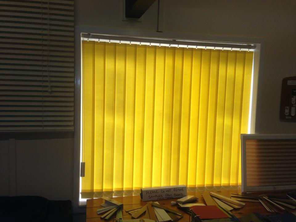 dark yellow blinds