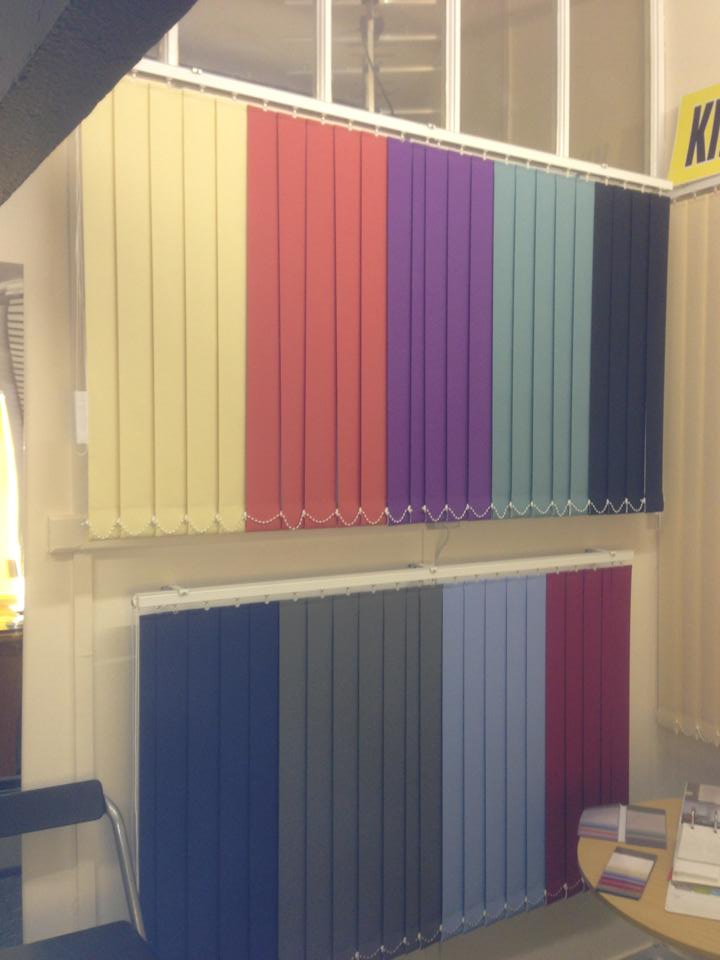 multi-coloured blinds